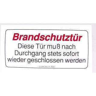 Hinweisschild - BRANDSCHUTZTÜR ... - Gr. ca. 25 x 15 cm - 308508/1