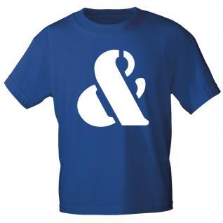 """Marken T-Shirt mit brillantem Aufdruck """"&"""" 85121-&"""