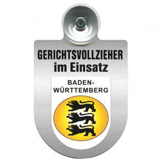 Einsatzschild Windschutzscheibe incl. Saugnapf - Gerichtsvollzieher im Einsatz - 309744-1 - Baden-Württemberg