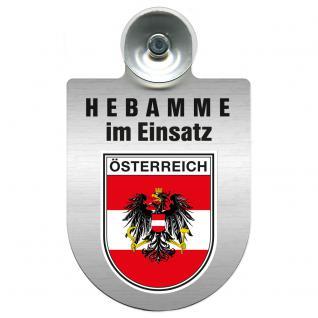 Einsatzschild Windschutzscheibe incl. Saugnapf -Hebamme im Einsatz - 309357-20 - Region Österreich