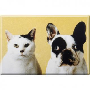 Kühlschrankmagnet - Hund und Katze - Gr. ca. 8 x 5, 5 cm - 38446 - Magnet Küchenmagnet