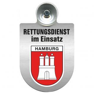 Einsatzschild Windschutzscheibe incl. Saugnapf - Rettungsdienst im Einsatz - 309354-15 - Region Hamburg