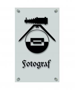Zunftschild Handwerkerschild - Fotograf - beschriftet auf edler Acryl-Kunststoff-Platte ? 309421 schwarz