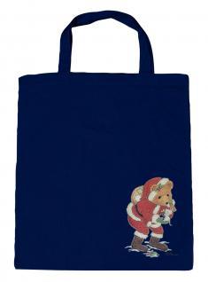 (08903/3-navy) Umweltfreundliche Baumwoll - Tasche , ca. 38 x 43 cm mit Aufdruck