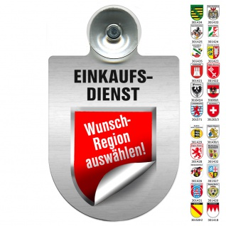 Einsatzschild Windschutzscheibe incl. Saugnapf - EINKAUFSDIENST - 309793 Region Franken
