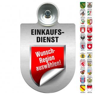 Einsatzschild Windschutzscheibe incl. Saugnapf - EINKAUFSDIENST - 309793 Region Saarland