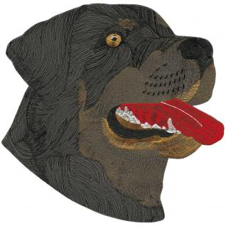 Aufnäher - Hundekopf Rottweiler - 08573 - Gr. ca. 26 x 23 cm - Patches Stick Applikation
