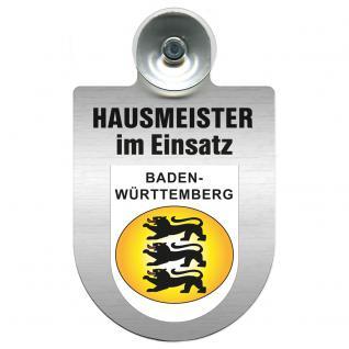 Einsatzschild für Windschutzscheibe incl. Saugnapf - Hausmeister im Einsatz - 309393-1 - Region Baden-Württemberg