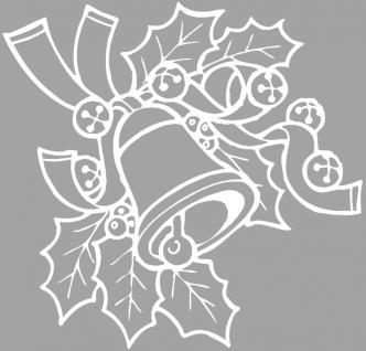 """Wandtattoo/ Dekorfolie mit Motiv """" Zweig mit Glocke"""" Ø 90cm Länge max. 100 cm, in 11 Farben WD0801 weiß"""