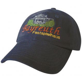 Cap - Schirmmütze gross und bunt bestickt - Festspielhaus Bayreuth - 68856 schwarz - Baumwollcap Cappy Baseballcap Hut