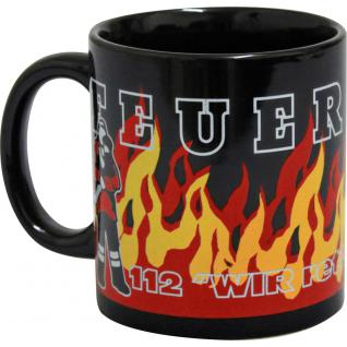 Tasse mit Aufdruck Feuerwehr 112 57144