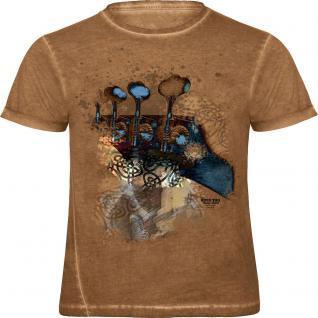 Designer T-Shirt mit Print - mystical bass - 12963 - ROCK YOU MUSIC SHIRTS - Gr. S