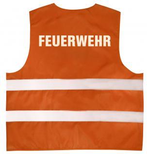 Warnweste mit Aufdruck - FEUERWEHR - 10355 versch. Farben Orange / L/XL - Vorschau
