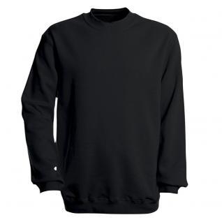 Sweat-Shirt unisex ohne Print in 14 farben Gr. S-XXL 41375 schwarz / S