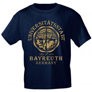 T-Shirt unisex mit Print - Universität Bayreuth - 10661 dunkelblau - Gr. M