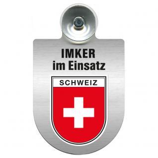 Einsatzschild Windschutzscheibe incl. Saugnapf - Imker im Einsatz - 309382-0-22 - Region Schweiz