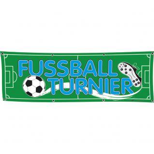 Banner Werbebanner - Fussball Turnier - 3x1m - Spannband für Ihren Werbeauftritt / Bedruckt mit Ihrem Motiv - 309803