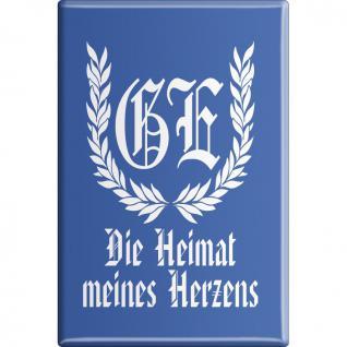 Kühlschrankmagnet - GE-Die Heimat meines Herzens - Gr. ca. 8 x 5, 5 cm - 38257 - Küchenmagnet