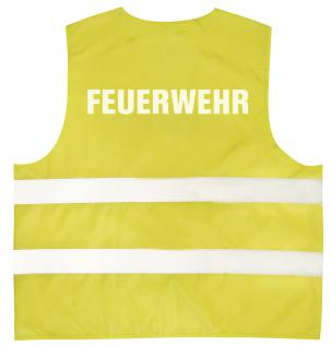 Warnweste mit Aufdruck - FEUERWEHR - 10355 versch. Farben gelb / 2XL - Vorschau