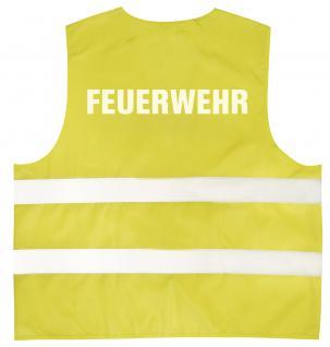Warnweste mit Aufdruck - FEUERWEHR - 10355 versch. Farben gelb / 4XL - Vorschau