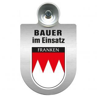 Einsatzschild Windschutzscheibe incl. Saugnapf - Bauer im Einsatz - 309736-18 Region Franken