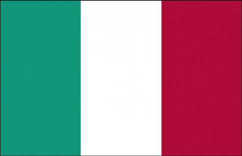 Flagge Stockländerfahne - Italien - Gr. ca. 40x30cm - 77070 - Schwenkfahne Dekoflagge