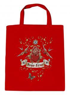 (U09377) Umweltfreundliche Baumwoll - Tasche , ca. 28 x 43 cm mit Aufdruck in 7 Farben rot