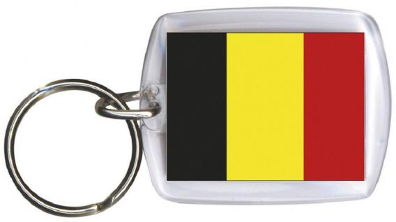 (81023) Schlüsselanhänger - BELGIEN - Gr. ca. 4x5cm - 81023- WM Länder