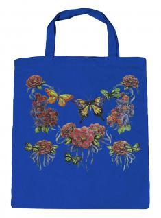 (U09943)Umweltfreundliche Baumwoll - Tasche , ca. 28 x 43 cm mit Aufdruck in 7 Farben blau
