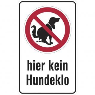 Hinweisschild - Hier kein Hundeklo - Gr. ca. 25 x 40 cm - 308795/1