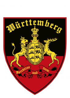 PVC-Aufkleber- Sticker Wappen - Württemberg - 301598-1 - Gr. ca. 9 x 10cm