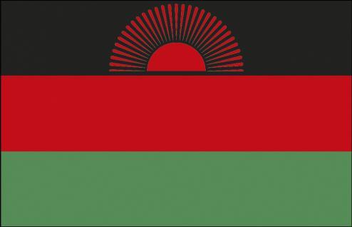 Stockländerfahne - Malawi - Gr. ca. 40x30cm - 77098 - Flagge Schwenkflagge