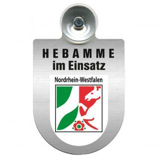 Einsatzschild Windschutzscheibe incl. Saugnapf -Hebamme im Einsatz - 309357-8 - Region Nordrhein-Westfalen