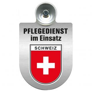 Einsatzschild Windschutzscheibe incl. Saugnapf - Pflegedienst im Einsatz - 309358-22 - Region Schweiz