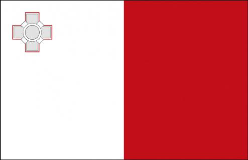 Stockländerfahne - Malta - Gr. ca. 40x30cm - 77102 - Schwenkflagge Fahne