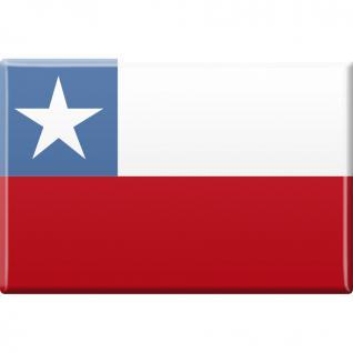"""MAGNETBUTTON mit Motiv """" CHILE"""" NEU Gr. ca. 8cm x 5, 5cm (38936) Länderwappen Flagge - Kühlschrank-Magnet Magnetschild Magnet"""