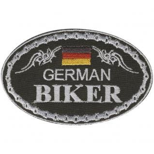 AUFNÄHER - German Biker - 04335 - Gr. ca. 9, 5 x 6 cm - Patches Stick Applikation