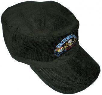 Military-Cap - BaseCap - Cappy mit farbiger Bestickung - Oktoberfest München - 60500 schwarz - Cap Kappe Baseballcap Baumwollcap