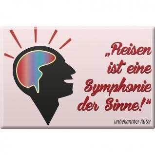 Magnet - ...Symphonie der Sinne... - Gr. ca. 8 x 5, 5 cm - 38357 - Magnet