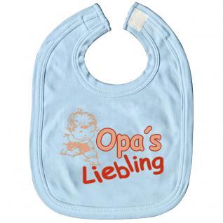 Babylätzchen mit Print - Opa´s Liebling - 08401 hellblau