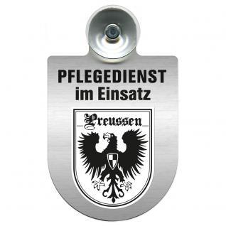 Einsatzschild Windschutzscheibe incl. Saugnapf - Pflegedienst im Einsatz - 309358-19 - Region Preussen