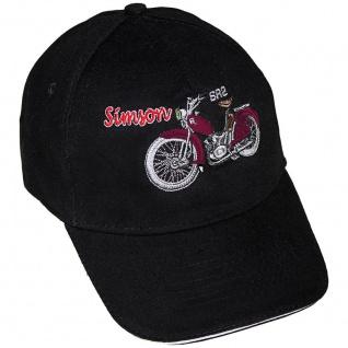 Baseballcap mit Einstickung - Simson SR2 rot - 68510/1