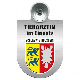Einsatzschild für Windschutzscheibe incl. Saugnapf - Tierärztin im Einsatz - 309474-12 Region Schleswig-Holstein