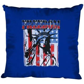 Kissen Dekokissen mit Print USA Freedom Freiheitsstatue K10983 Royal
