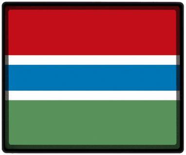 Mousepad Mauspad mit Motiv - Gambia Fahne Fußball Fußballschuhe - 82053 - Gr. ca. 24 x 20 cm