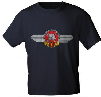 T-Shirt mit Print - Feuerwehr DDR - 09223 blau - Gr. S - Vorschau 1