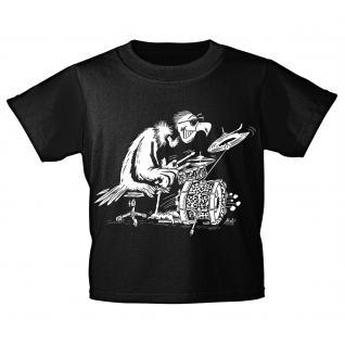 Kinder T-Shirt mit Print - Drum Geier - 12284 - ROCK YOU© MUSIC SHIRTS 98/104