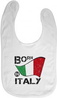 Babylätzchen mit Druckmotiv - Born in Italy - 12493 weiß