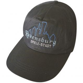 Baseballcap mit Stick - RAVENSBURG - 68051 schwarz - Cap Kappe Baumwollcap