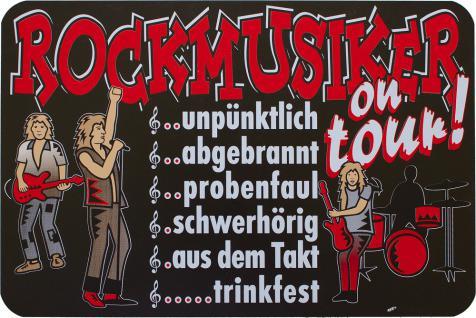 Hinweisschild - Warnschild - Rockmusiker- ca. 20 x 30 cm - 309274-1